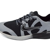 Кроссовки мужские Nike 48 черно- серые (реплика)