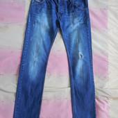 Стильные рваные мужские джинсы, размер 48-50, высокий рост, как новые!