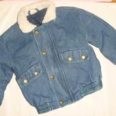 джинсовая деми куртка на 2-4 года