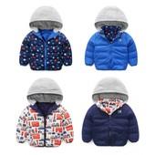 Куртка для мальчика двусторонняя демисезонная
