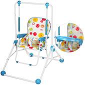 Детский шезлонг-качель Bambi Q01-PVC- ( качеля + стульчик