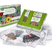 Набор Crayola - 25 Раскрасок, 24 Маркера, 12 Карандашей