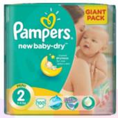 Подгузники Pampers New Baby-Dry размер 2 3-6кг. Польша 100шт.
