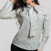 Размеры 42-48 Женская рубашка с бантом