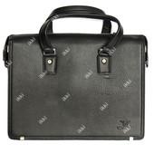 Мужской стильный портфель под документы жесткий с дефектом (8915-3)