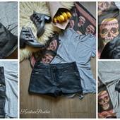 Кожаные шорты с кармашками,р-р М-Л