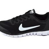 Мужские кроссовки Nike free 3-0 черные (реплика)