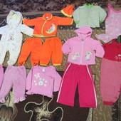 Пакет весенне-осенних вещей на девочку до 1 года (15 единиц)