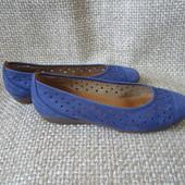 Gabor р.37.5 мокасини балетки туфлі з перфорацією шкіряні