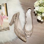 (39р./25,8см) Pierre Cardin! Кожа! Милые открытые туфли, босоножки