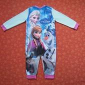 Флисовый человечек Frozen (Холодное сердце) Анна, Эльза на 3-4 года, б/у. Общее состояние хорошее, н