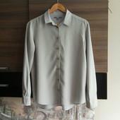 Стильная пепельно-серая блуза, размер М