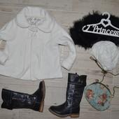 4 - 5 лет 110 см Фирменное красивое пальто для девочки Next Некст