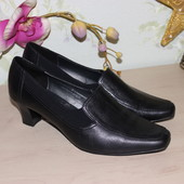 40 26см Footglove Кожаный туфли на каблучке