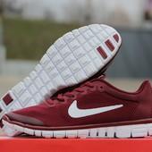 Кроссовки  Nike Free Run 3.0  бордові
