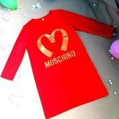 Стильное платье туника  Moschino разные цвета