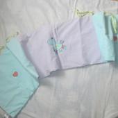 защита (бампер) в детскую кроватку,  для мальчиков и девочек