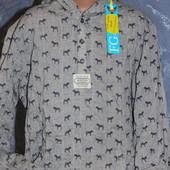Рубашка-капюшенка для мальчика от George. Хлопок