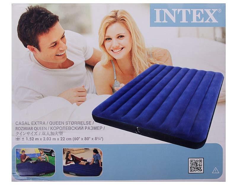 Надувной матрас Intex 68759 интекс(152х203х22см) фото №1