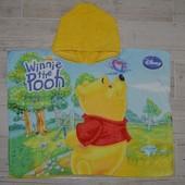 Фирменное Детское полотенце пончо плотное махровое с капюшоном Винни Пух Дисней