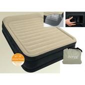 Велюр кровать 64404 со встроенным насосом, 203-152-41 см
