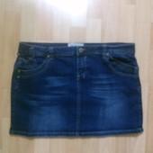 Фирменная джинсовая юбка XL