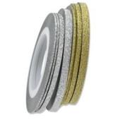 Скотч для дизайна глиттерный, 3 мм