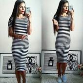 Платье летнее -Тельняшка c 42 по 46 размер. От производителя.