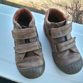 Демисезонные кожаные ботинки для мальчика 29 разм. стелька 18,5 см.