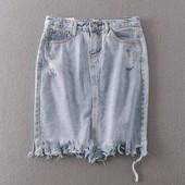Джинсовые юбки. Разные модельки. Доставка 1-3 дня.