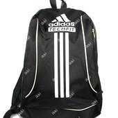Мужской рюкзак черного цвета в стиле Adidas (909)
