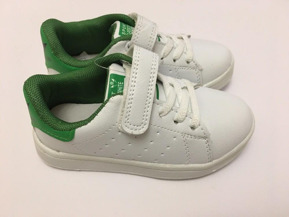 Кеды, кроссовки белые для мальчика и девочки фото №2