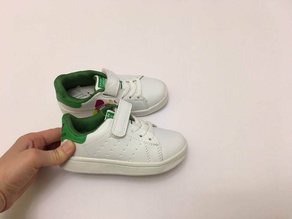 Кеды, кроссовки белые для мальчика и девочки фото №4