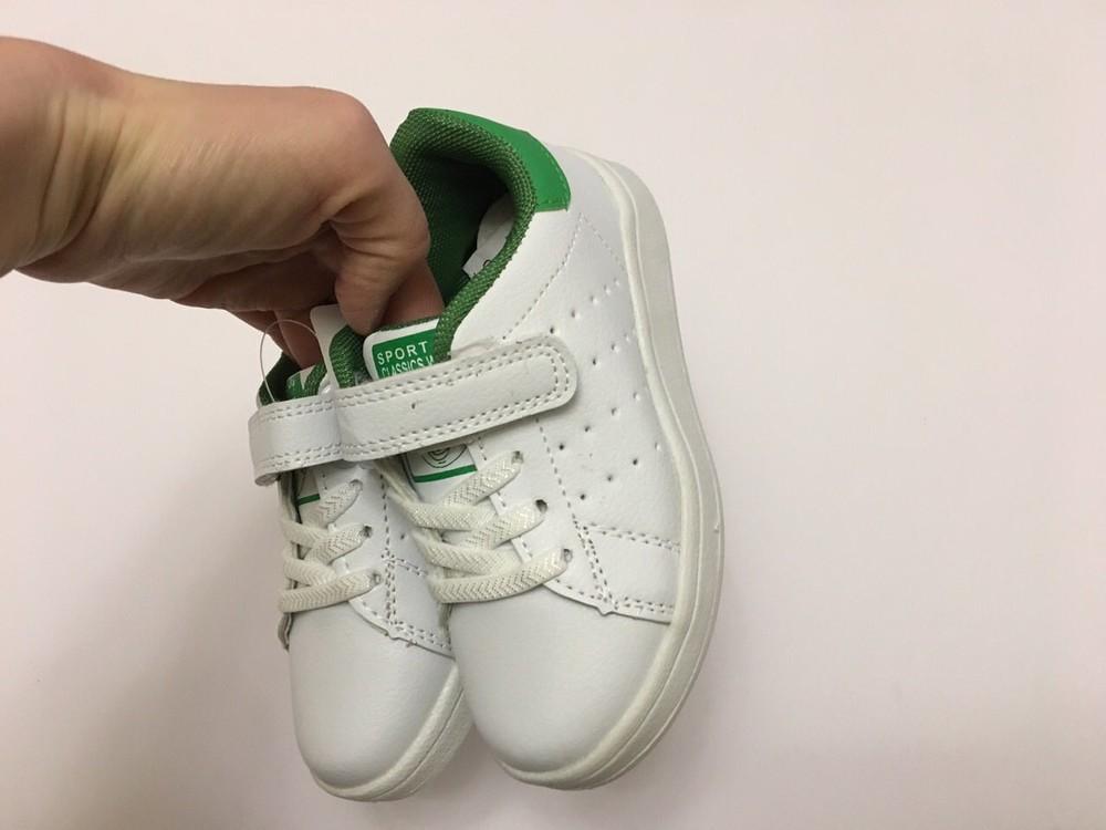 Кеды, кроссовки белые для мальчика и девочки фото №6