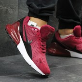 Кроссовки Nike Air Max 270 burgundy, топ качество