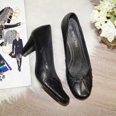 (39р./25,5см) Marco Tozzi! Кожа! Красивые комфортные туфли в классическом стиле