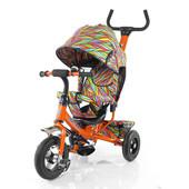 Велосипед трехколесный Tilly Trike T-351-2 оранжевый с надувными колесами