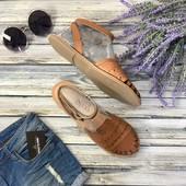 Классные сандалии из натуральной кожи в стиле бохо  SH1259