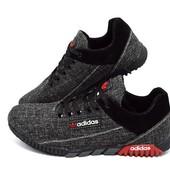 Кроссовки Мужские Adidas Jeans Black