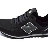 Мужские кроссовки New Balance 14 черные (реплика)