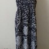 Длинное легкое платье с принтом