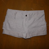 р. 140-146-152, льняные шорты стрейч для девочки подростка