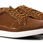 Мужские туфли нат.нубук в спортивном стиле Golder, р. 45 – 30 см