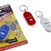 Брелок для ключей антипотеряшка+фонарик! На выбор черный или красный
