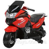 Детский електромобиль мотоцикл BMW, колеса Eva