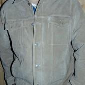 Стильная кожаная замш курточка пиджак бренд TCM Германия .хл