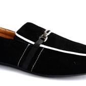 Туфли на резинку - Мокасины Эко-Замша (А809)