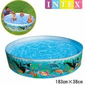 Детский каркасный бассейн Intex 58461 Океанский Риф: 183х38см