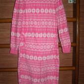 Пижама флисовая, девочке на 8-9 лет, рост до 134 см