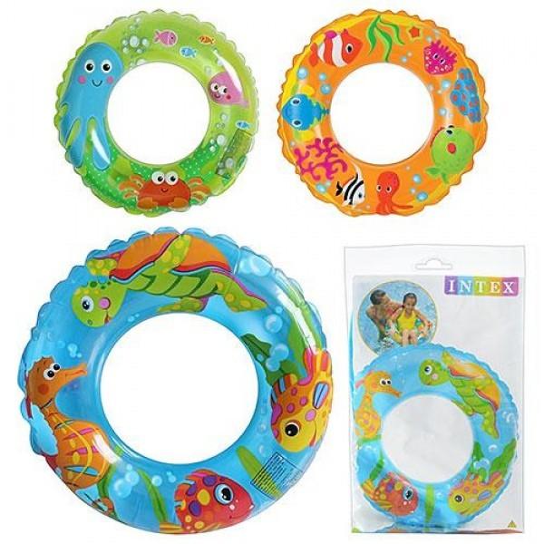 Надувной круг для плавания Intex 59242, 3 вида: 61см фото №1